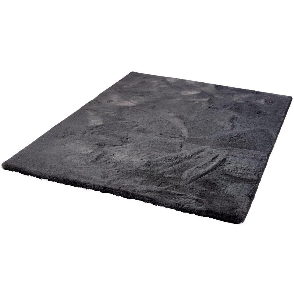 Dekowe Hochflor-Teppich »Roger Deluxe«, rechteckig, 33 mm Höhe, Kunstfell, Kaninchenfell-Haptik, besonders weich, Wohnzimmer
