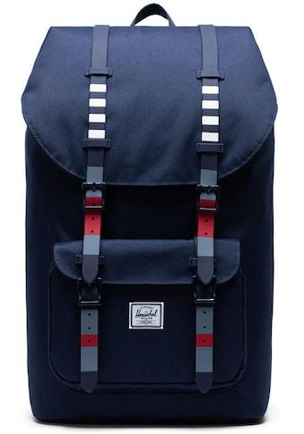 Herschel Laptoprucksack »Little America, Malibu Stripe Peacot« kaufen