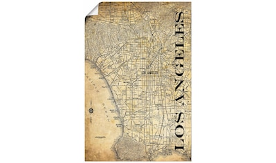 Artland Wandbild »Los Angeles Karte Straßen Karte Sepia« kaufen
