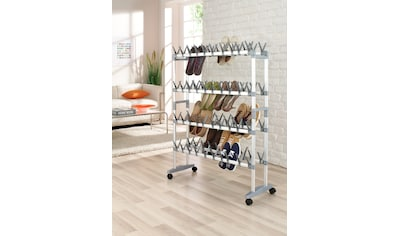 Ruco Schuhregal, Aluminium/Kunststoff, für bis zu 80 Paar Schuhe, fahrbar kaufen