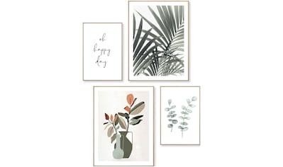Reinders! Wandbild »Natur Palmbaumblätter - Pflanz - Eukalyptus - Blum - Glück«, (4 St.) kaufen