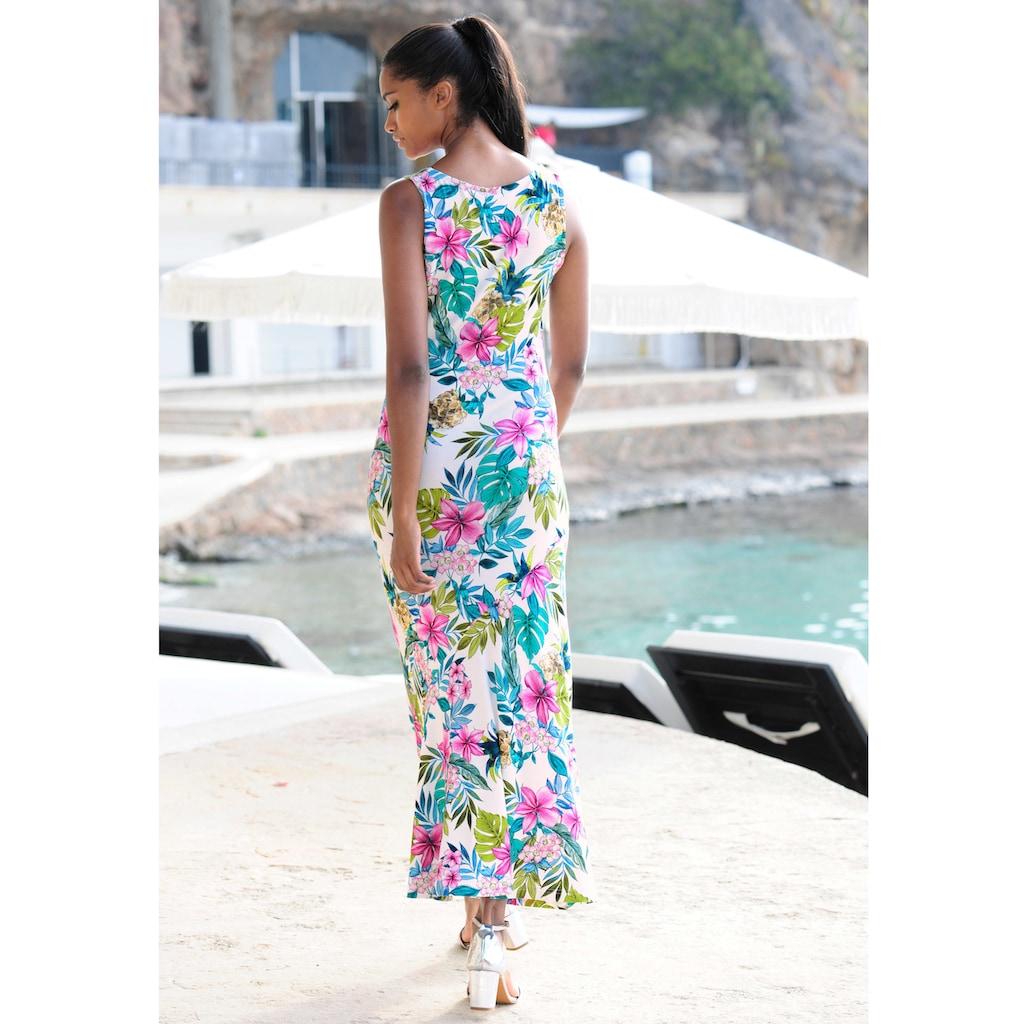Alba Moda Strandkleid mit buntem Druck