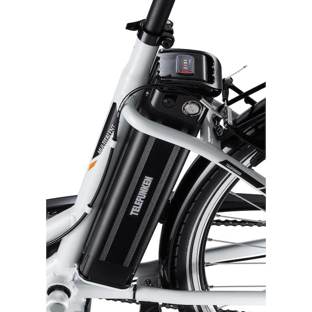 Telefunken E-Bike »Multitalent RC865«, 3 Gang Shimano Nexus Schaltwerk, Mittelmotor 250 W