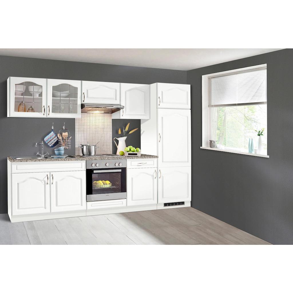 wiho Küchen Küchenzeile »Linz«, mit E-Geräten, Breite 270 cm, mit Edelstahl-Kochmulde