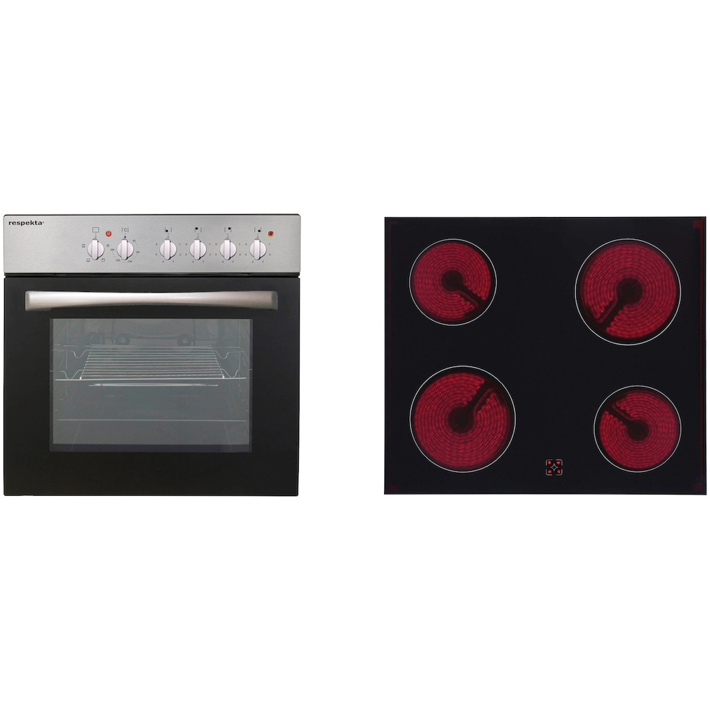 RESPEKTA Küchenzeile, mit E-Geräten, Breite 240 cm