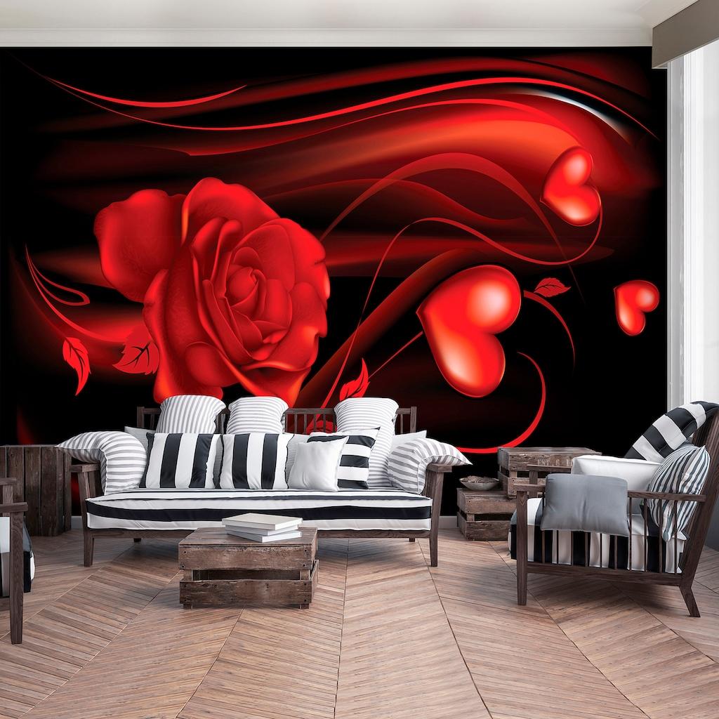Consalnet Fototapete »Abstrakt Rose Herz«, Motiv