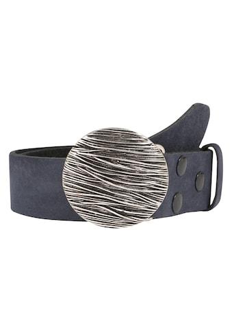 RETTUNGSRING by showroom 019° Ledergürtel, mit austauschbarer Seegras-Schließe kaufen