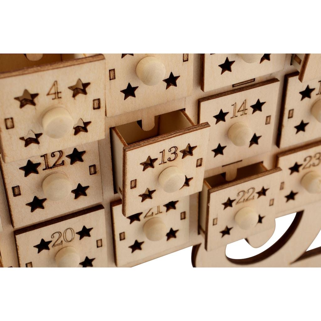 befüllbarer Adventskalender »Schlitten«, mit stimmungsvoller Beleuchtung