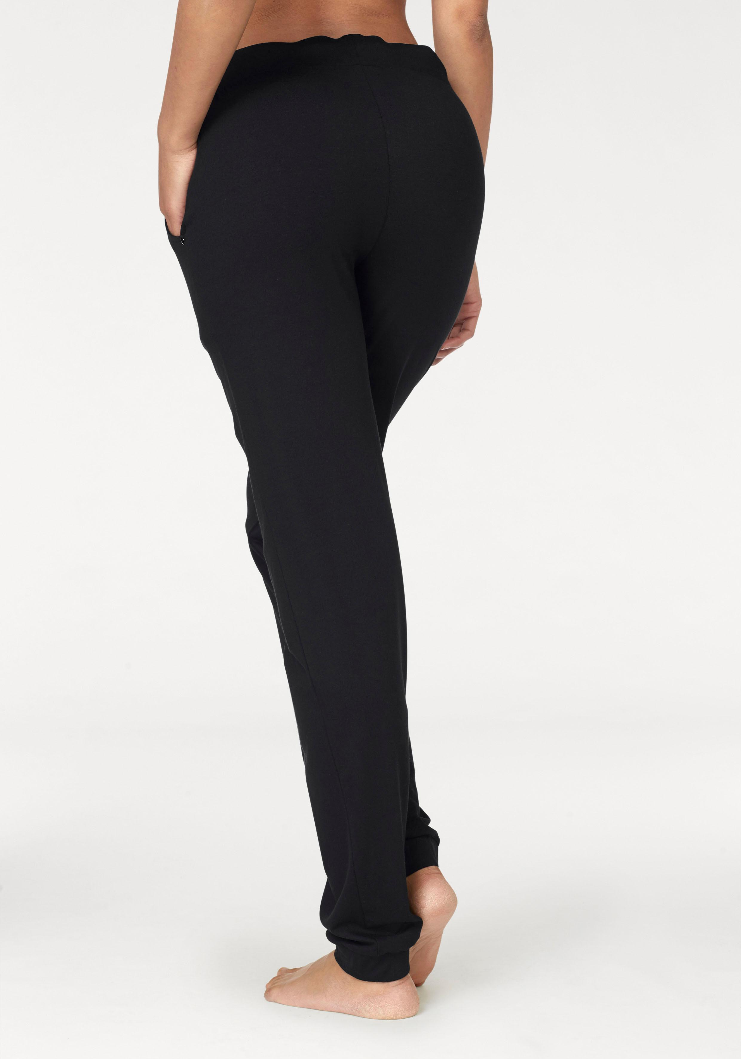 LASCANA Relaxhose mit seitlichen Eingrifftaschen   Bekleidung > Homewear > Relaxhosen   Schwarz   Baumwolle   Lascana