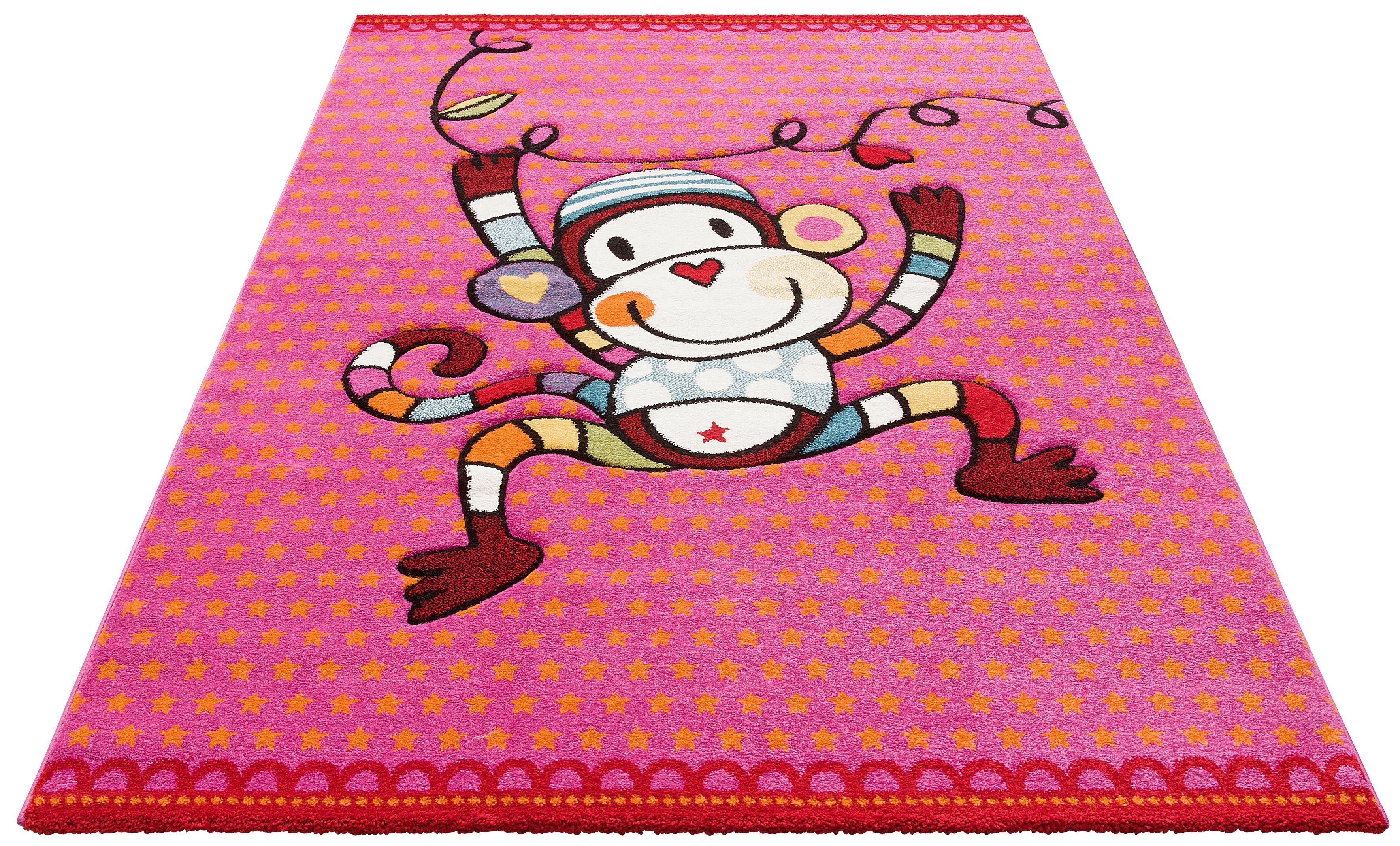 Kinderteppich Affe Lüttenhütt rechteckig Höhe 13 mm maschinell gewebt