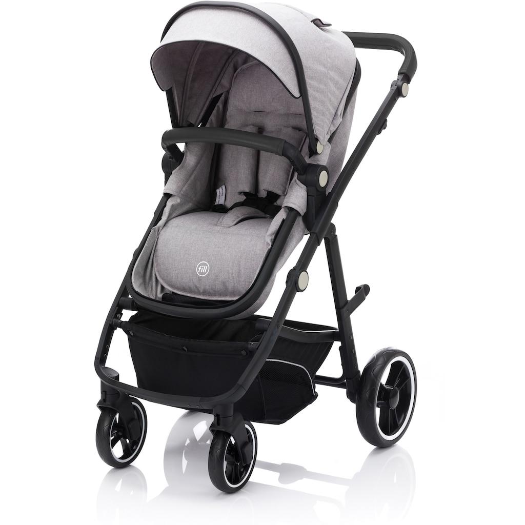 Fillikid Kombi-Kinderwagen »Panther, stone melange«, 22 kg, mit Babyschale; Kinderwagen