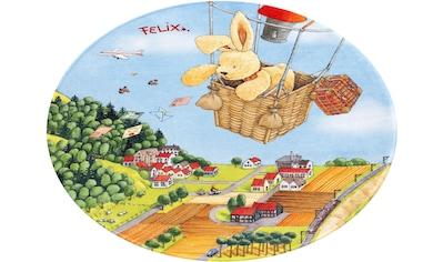 Felix der Hase Kinderteppich »FE-415«, rund, 6 mm Höhe, Stoff Druck, weiche Mircofaser kaufen