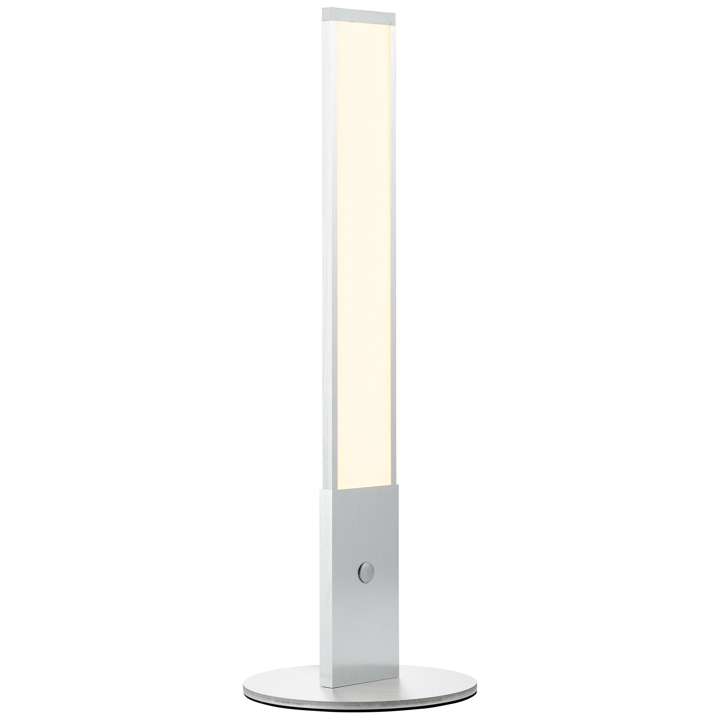 Brilliant Leuchten Entrance LED Tischleuchte alu/weiß
