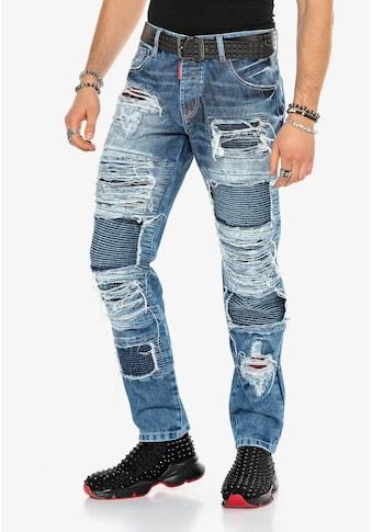 Cipo & Baxx Bequeme Jeans, im auffälligen Riss-Design kaufen