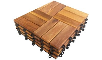 MERXX Terrassenplatten »Akazie«, Klickfliesen Akazie kaufen