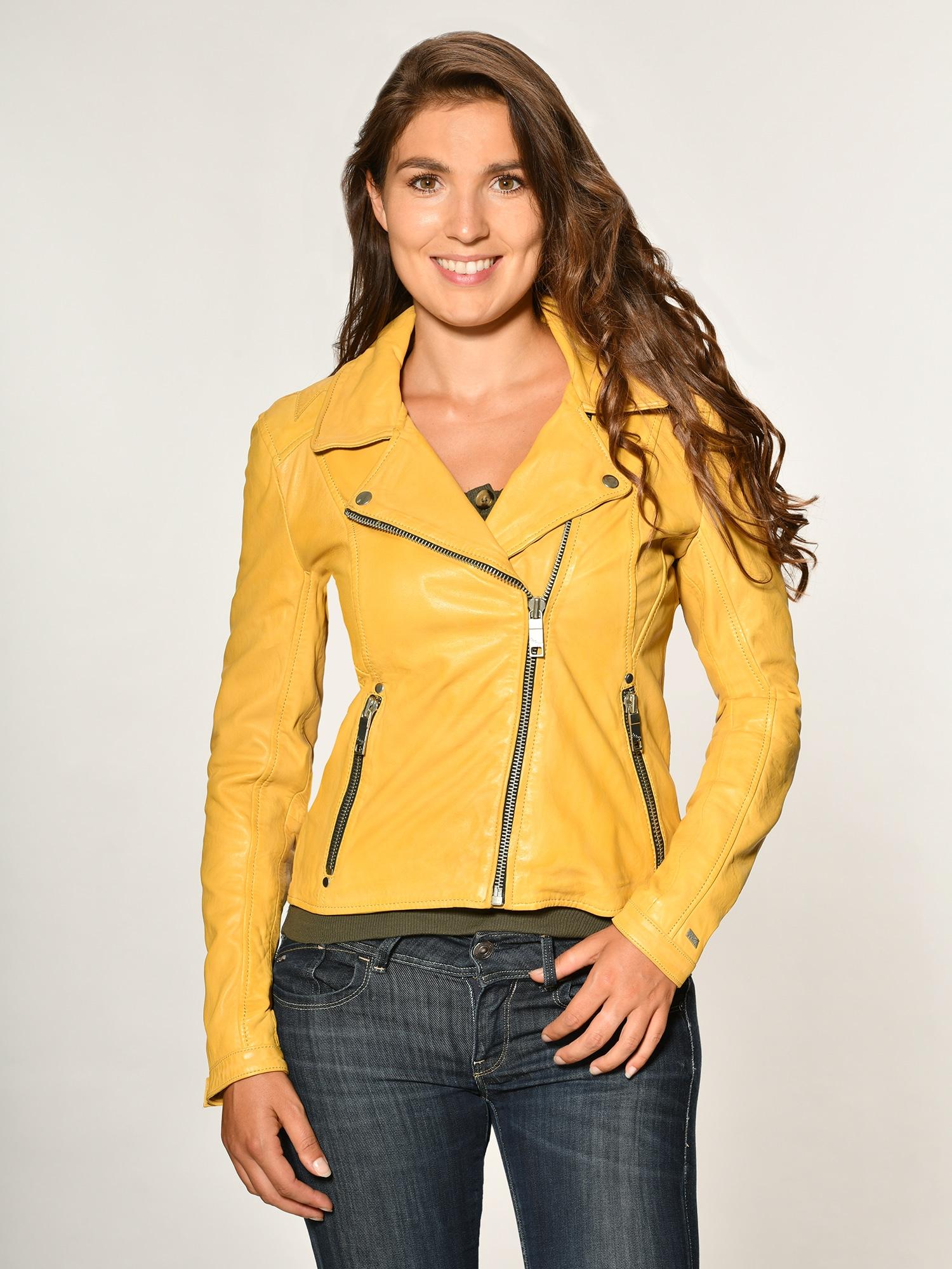 überlegene Materialien bis zu 60% sparen super service gelb-polyester Lederjacken für Herren online kaufen ...