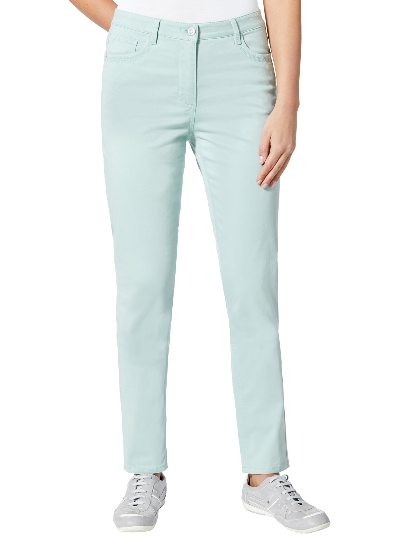 Casual Looks Jeans in der typischen 5-Pocket-Form | Bekleidung > Jeans > 5-Pocket-Jeans | Grün | Casual Looks