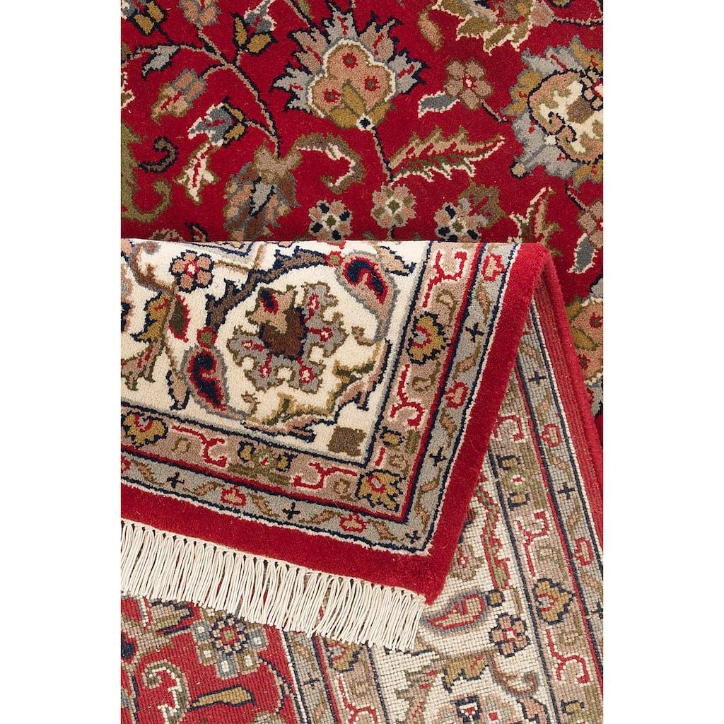 DELAVITA Orientteppich »Aras«, rechteckig, 12 mm Höhe, handgeknüpft, mit Fransen, Wohnzimmer