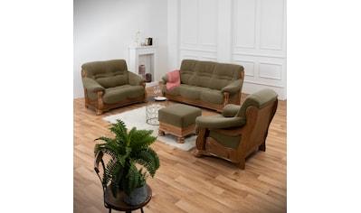 Max Winzer® Sessel »Texas«, mit dekorativem Holzgestell kaufen