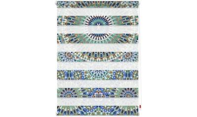 Doppelrollo »Duo Rollo Motiv Orientalisches Muster«, LICHTBLICK, Lichtschutz, ohne Bohren, freihängend kaufen