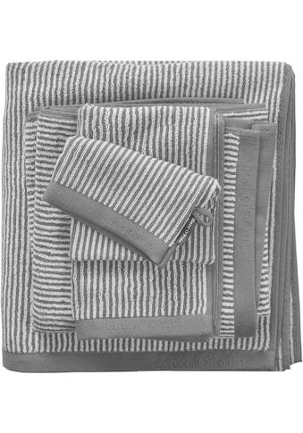 Marc O'Polo Home Badetuch »Timeless Tone Stripe«, (1 St.), mit Logostickerei kaufen