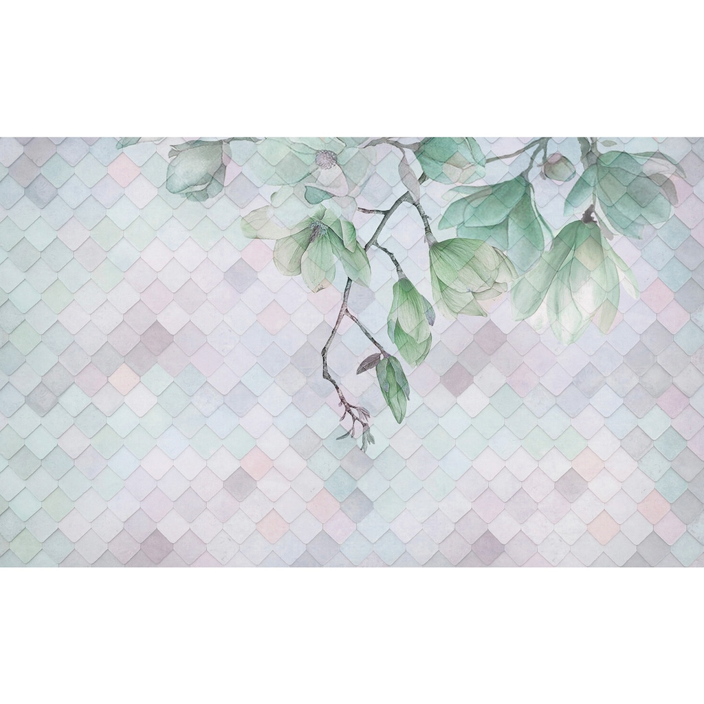 Consalnet Vliestapete »Ast mit Blüten«, floral