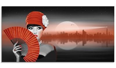 Artland Glasbild »In der Hitze der Nacht«, Frau, (1 St.) kaufen