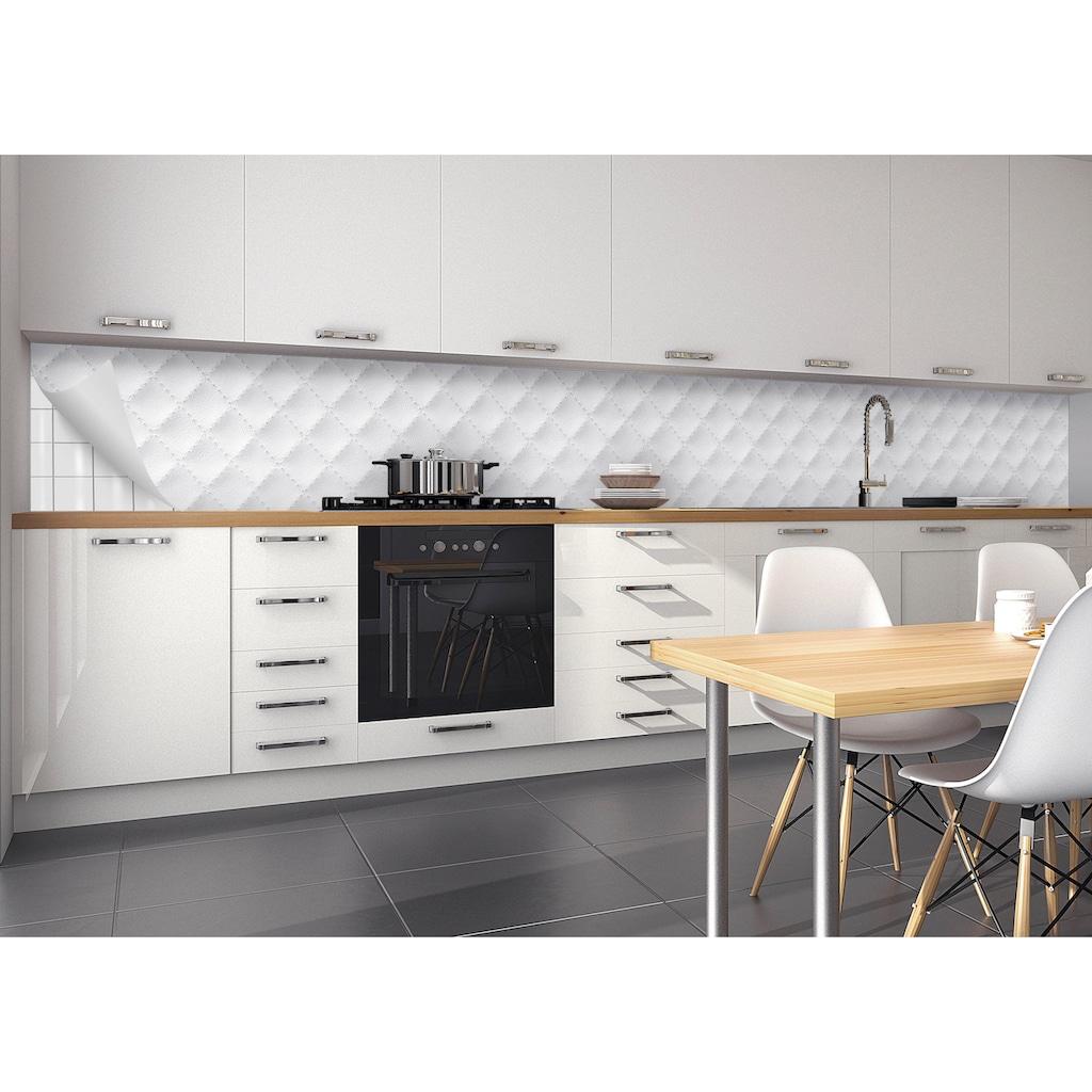 MySpotti Küchenrückwand »fixy Lederoptik«, selbstklebende und flexible Küchenrückwand-Folie