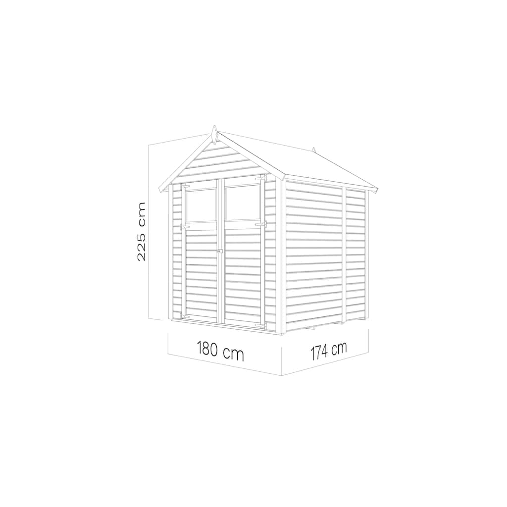 KONIFERA Gartenhaus »Sylt 2«