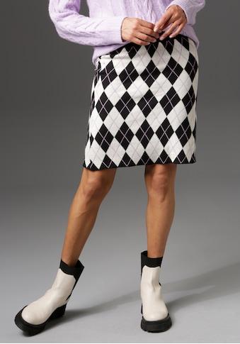 Aniston CASUAL Strickrock, mit Rauten-Muster - NEUE KOLLEKTION kaufen