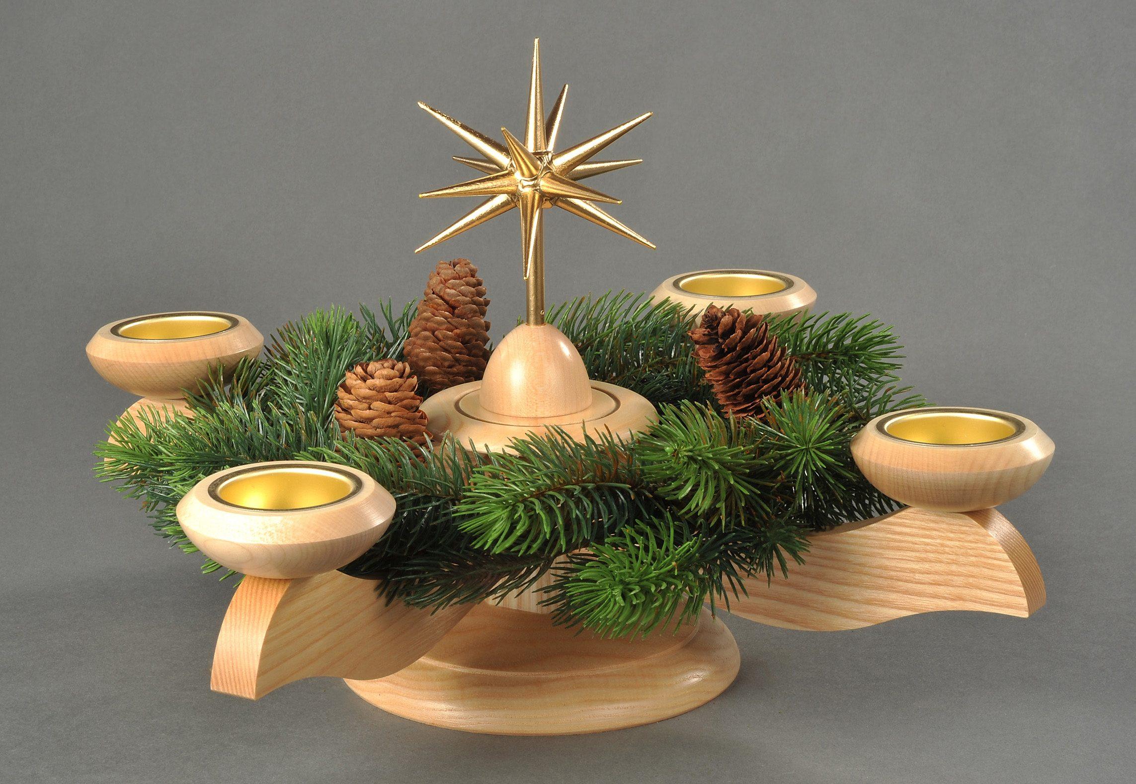 Adventsleuchter, natur, »Weihnachtsstern«, Albi...