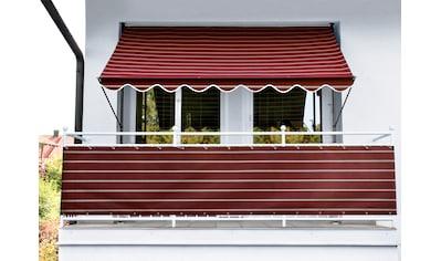 Angerer Freizeitmöbel Balkonsichtschutz, Meterware, weinrot-weiß, H: 75 cm kaufen