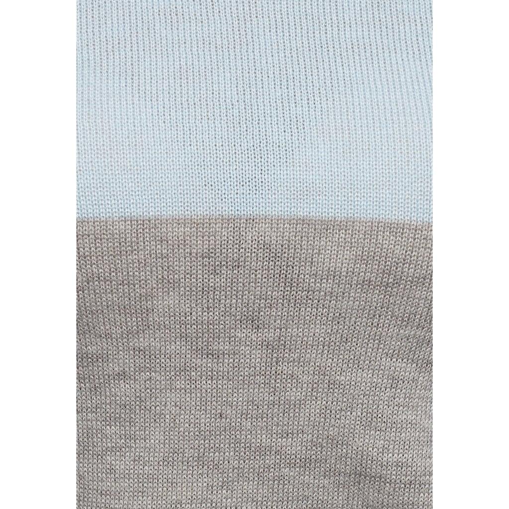 AJC Rundhalspullover, mit breiten Block-Streifen
