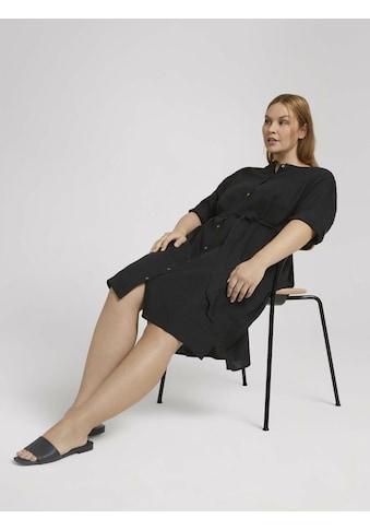 TOM TAILOR MY TRUE ME Blusenkleid »Curvy - Lockeres Blusenkleid mit Leinen« kaufen