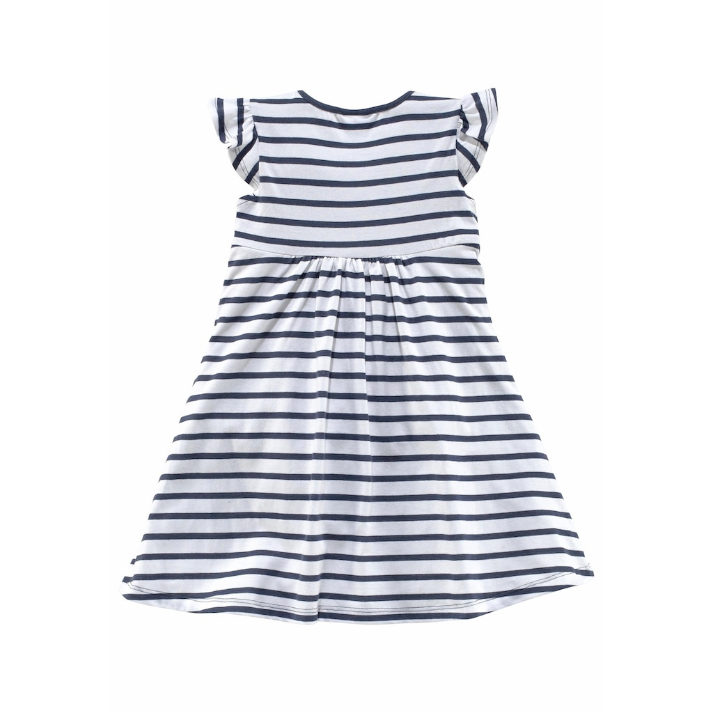KIDSWORLD Jerseykleid, (Packung, 2 tlg.), mit Streifen und Punkten