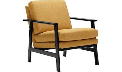 LOVI Sessel »Pepper«, Gestell schwarz aus massiver Buche im Retro Style kaufen