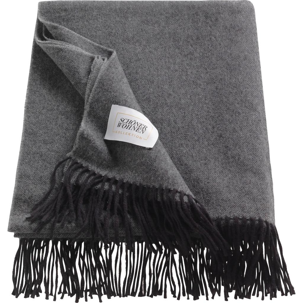 SCHÖNER WOHNEN-Kollektion Wohndecke »Wooly«, aus hochwertigem Schurwolle-Baumwollmix