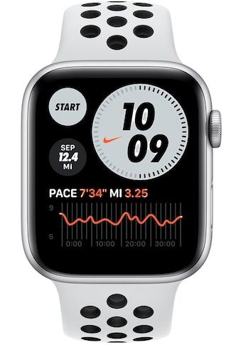 Apple Watch »Nike Series 6 GPS, Aluminiumgehäuse mit Nike Sportarmband 44mm« (, Watch OS, inkl. Ladestation (magnetisches Ladekabel) kaufen