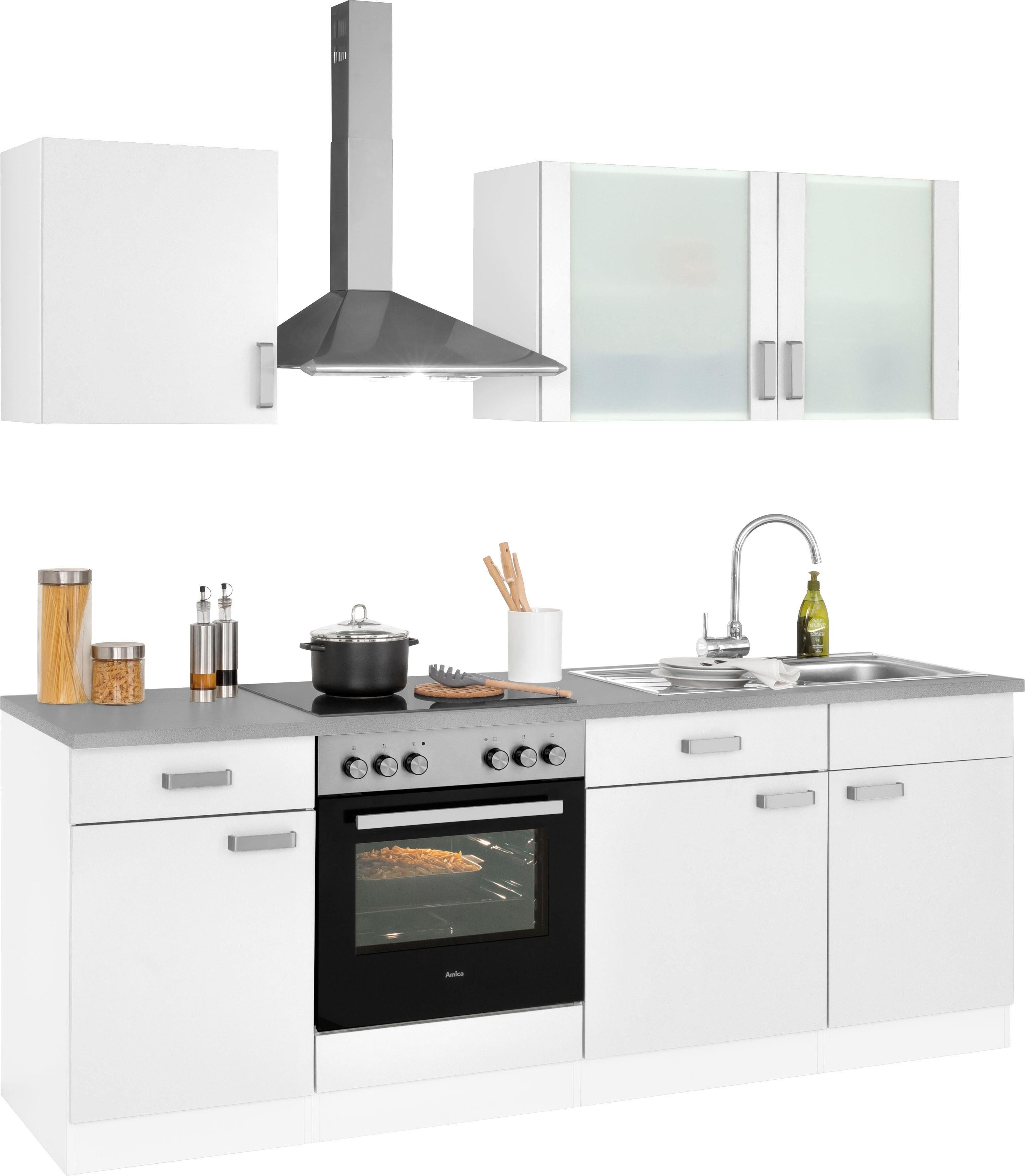 wiho Küchen Küchenzeile »Husum« Wahlweise mit Aufbauservice  BAUR