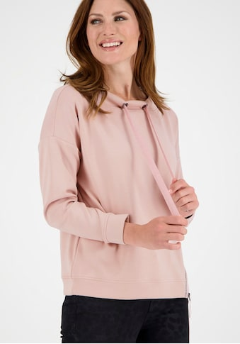 Monari Sweatshirt, mit seitlichem Reißverschluss und Glitter-Schriftzug kaufen