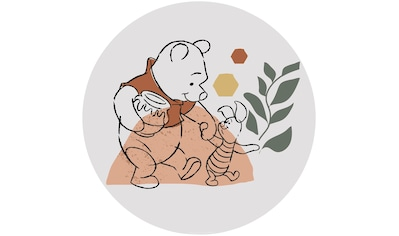 Komar Fototapete »Winnie Pooh Soulmate«, bedruckt-Comic-Retro-mehrfarbig, BxH: 128x128... kaufen