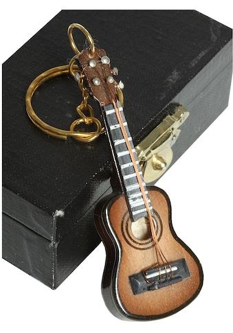 Ambiente Haus Dekofigur »Schlüsselanhänger Gitarre dunkel 7cm« kaufen