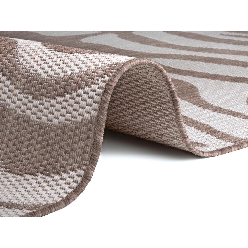 Home affaire Teppich »Zadie«, rechteckig, 3 mm Höhe, Wohnzimmer, In- und Outdoor geeignet