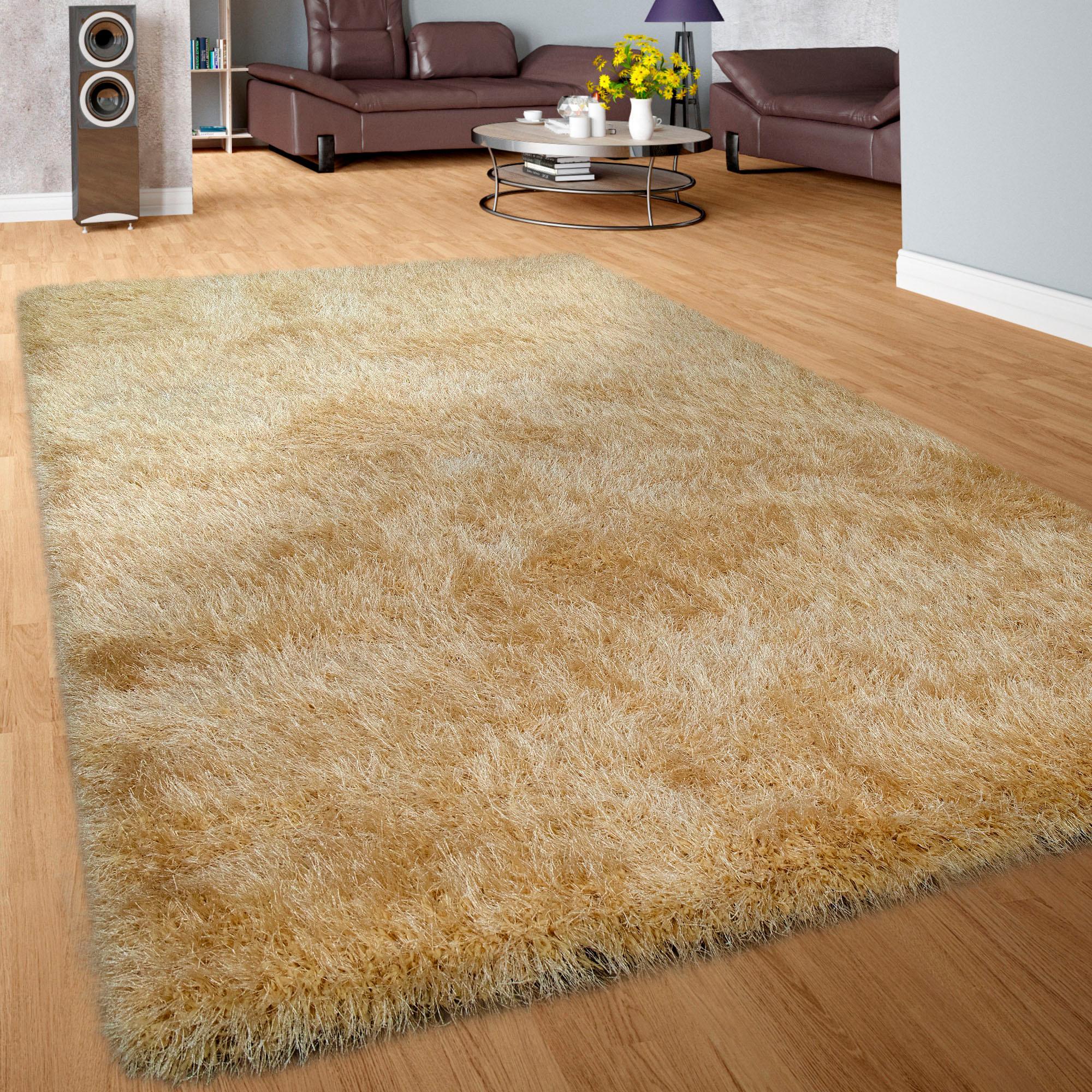 Teppich Glamour 300 Paco Home rund Höhe 75 mm maschinell gewebt