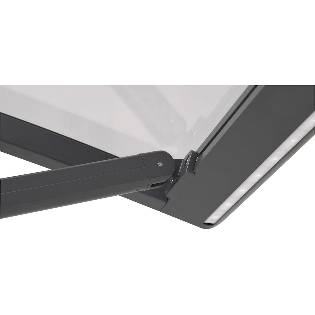 KONIFERA Vordach, schwarz, BxTxH: 120x95x36, aus hochwertigem Aluminium