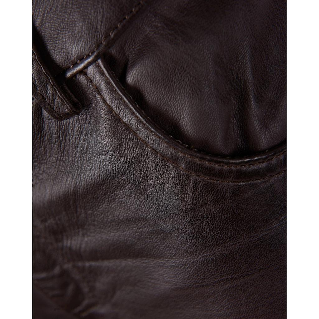 JCC Lederhose mit Reißverschluss am Beinabschluss