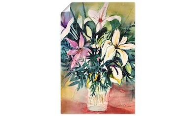 Artland Wandbild »Lilien in Vase« kaufen
