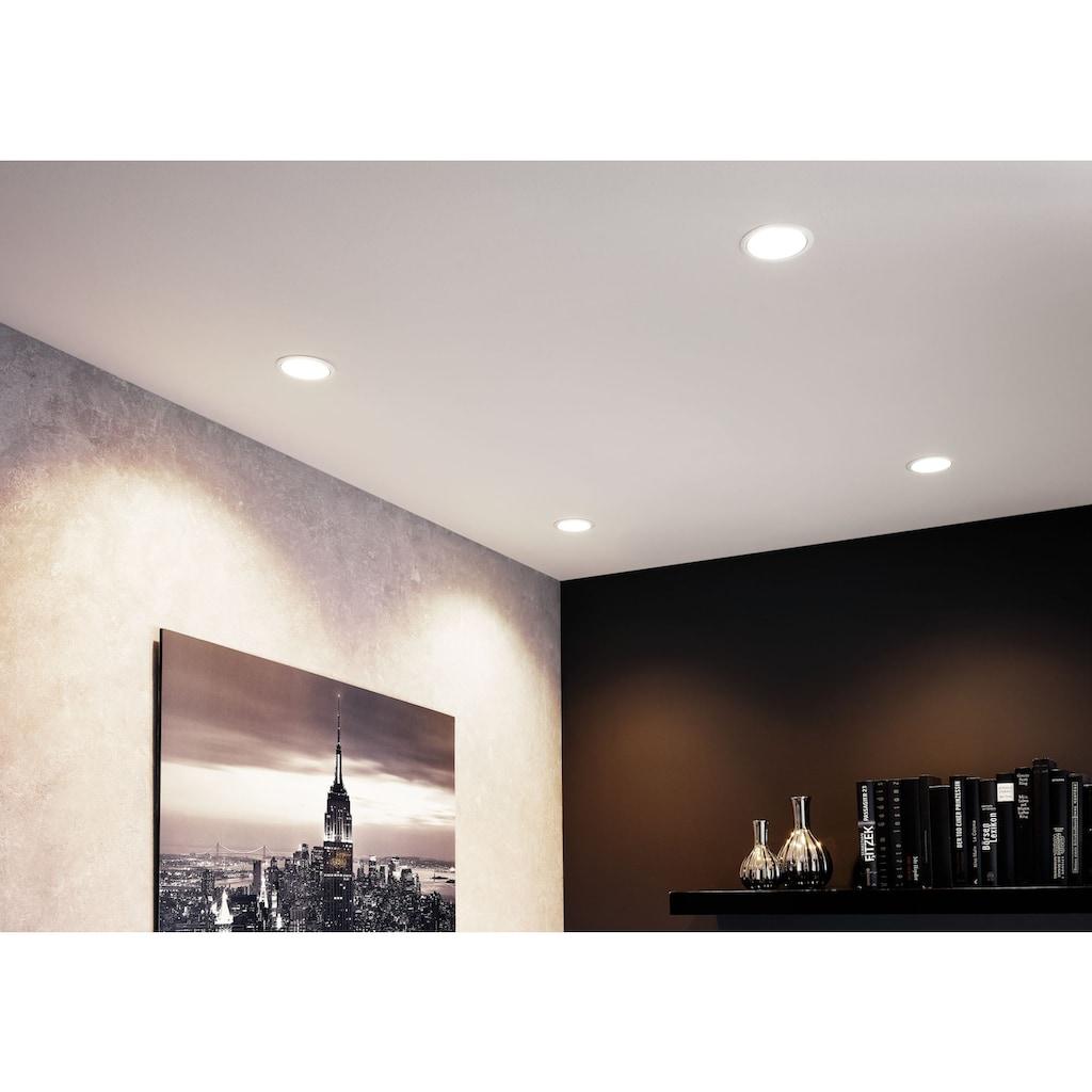Paulmann LED Einbauleuchte »3er Set Cole 3x6,5W Weiß/Silber matt 3-Stufen-dimmbar 2700K Warmweiß«, Warmweiß, Deckenspots, 3er Set