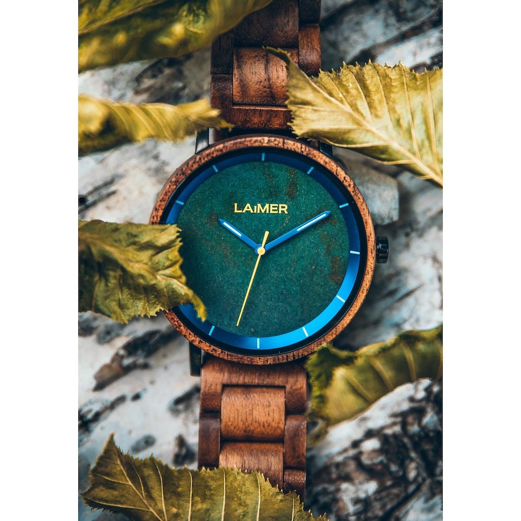 LAiMER Quarzuhr »Holzuhr Laurenz«