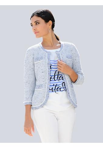Alba Moda Strickjacke, in schönem Bouclé-Garn kaufen